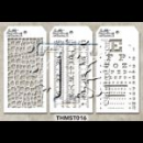 MTHS016 Stampers Anonymous Tim Holtz Layering Stencil - Mini Stencil Set #16